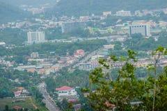 La belle vue de Khao-Khad regarde la tour, touristes peut apprécier le Th Image libre de droits