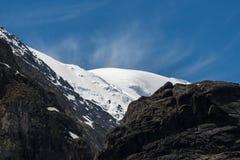 La belle vue de l'des montagnes aménagent en parc en montagnes d'Altai Image libre de droits