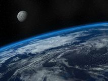 La belles terre et lune Photos libres de droits