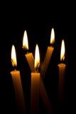 La belleza de la luz de la vela Imagenes de archivo