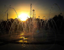 La belleza de la puesta del sol Imágenes de archivo libres de regalías