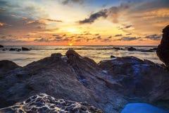 La belleza de la playa de Kiamsam es incomparable, la isla de Labuan Imagen de archivo