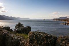 La belleza del lago Fotografía de archivo