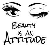 La belleza del vector es una actitud ilustración del vector