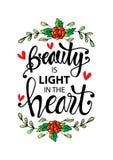La belleza es una luz en el corazón libre illustration