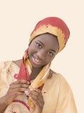 La belleza joven del Afro se vistió para una celebración, trece años Fotos de archivo libres de regalías