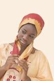 La belleza joven del Afro se vistió para una celebración, trece años Imagen de archivo