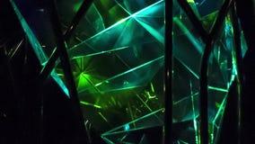 La belleza y la brillantez de cristales almacen de metraje de vídeo