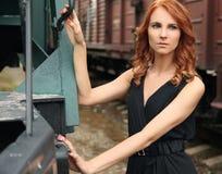 La belleza y tren Foto de archivo libre de regalías