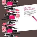La bellezza compone il fondo astratto dei cosmetici di modo Immagine Stock
