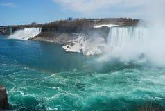 La bellezza del cascate del Niagara Fotografie Stock Libere da Diritti