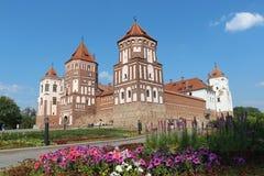 La bellezza del castello del MIR in Bielorussia Immagini Stock Libere da Diritti