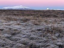 La bellezza del cerchio dorato dell'Islanda immagini stock