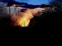 La bellezza del cielo di sera Immagine Stock