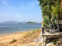 La bellezza del phetchaburi della diga di Kaeng Krachan Fotografie Stock Libere da Diritti
