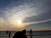 La bellezza del tramonto Fotografie Stock Libere da Diritti