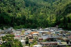 La bellezza del villaggio in Indonesia fotografia stock libera da diritti