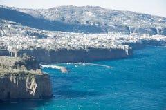 La bellezza della costa di Amalfi Fotografia Stock