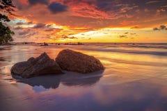 La bellezza della spiaggia di Kiamsam è ineguagliabile, l'isola di Labuan Fotografia Stock Libera da Diritti