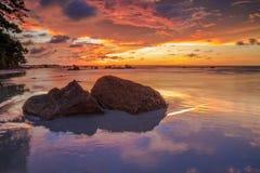 La bellezza della spiaggia di Kiamsam è ineguagliabile, l'isola di Labuan Immagine Stock Libera da Diritti