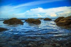 La bellezza della spiaggia di Kiamsam è ineguagliabile, l'isola di Labuan Fotografie Stock