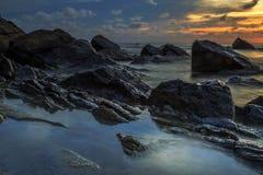 La bellezza della spiaggia di Kiamsam è ineguagliabile, l'isola di Labuan Fotografie Stock Libere da Diritti