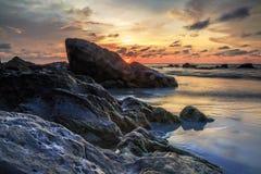 La bellezza della spiaggia di Kiamsam è ineguagliabile, l'isola di Labuan Immagini Stock Libere da Diritti