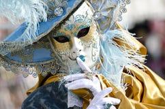 La bellezza delle maschere di carnevale Immagini Stock Libere da Diritti