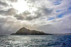 La bellezza di girare scenico intorno a Capo Horn, punta più a sud del Cile del Sudamerica fotografie stock