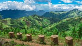 La bellezza di Kalaw, vista dal punto di vista di Kalaw fotografie stock