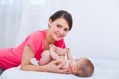 La bellezza di paternità fotografie stock