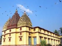 La bellezza di un tempio con il piccione Fotografie Stock Libere da Diritti
