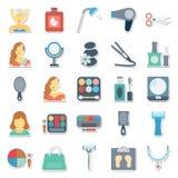 La bellezza e la stazione termale hanno isolato l'uso delle icone di vettore per i progetti del salone e della stazione termale d royalty illustrazione gratis
