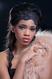 La bellezza ha sparato di giovane donna di colore Fotografia Stock