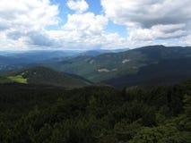 La bellezza straordinaria delle montagne carpatiche Immagine Stock