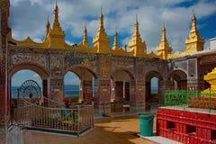 La bellezza stupefacente della pagoda Sutaungpyei letteralmente desiderio-soddisfacente Fotografia Stock Libera da Diritti