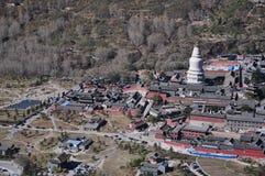 La bendición budista del templo de la pagoda ruega Sakyamuni Fotos de archivo libres de regalías