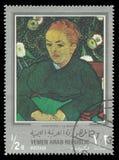 La Berceuse de peinture par Gauguin Images libres de droits