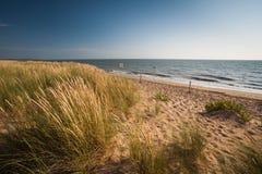 La Bergere海滩在La Barre de Monts,买主 免版税库存照片