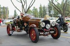 La Bestioni Rusty classic car on display Stock Photo