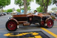 La Bestioni Rusty classic car on display Royalty Free Stock Photos