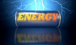 La bevanda di energia può Fotografia Stock Libera da Diritti