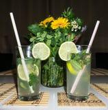La bevanda di mahito del cocktail dettaglia l'immagine Fotografia Stock