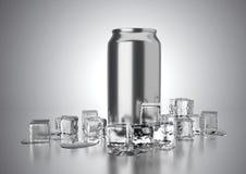 La bevanda fredda può Fotografia Stock Libera da Diritti