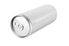 La bevanda può da alluminio in bianco Fotografia Stock Libera da Diritti