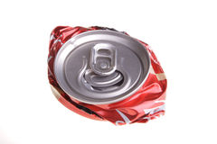 La bevanda schiacciata può Fotografie Stock Libere da Diritti