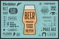 La bière d'affiche rend tout meilleur Photos libres de droits