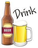 La bière est une boisson Photos libres de droits