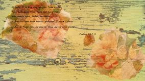 La bible - le psaume du Roi David image libre de droits