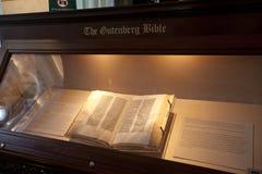 La biblia de Gutenberg Foto de archivo libre de regalías